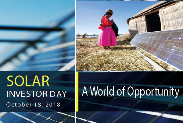 Solar Investor Day