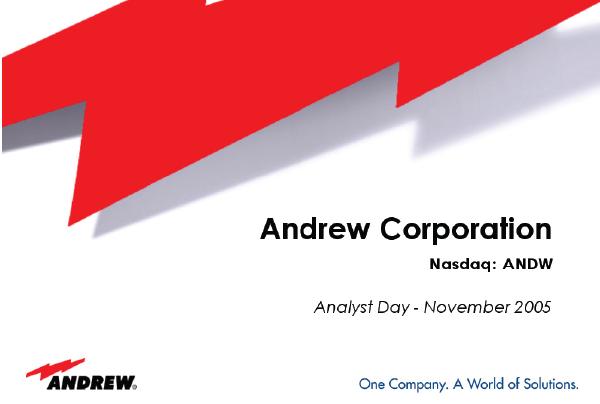 Andrew Investor Day