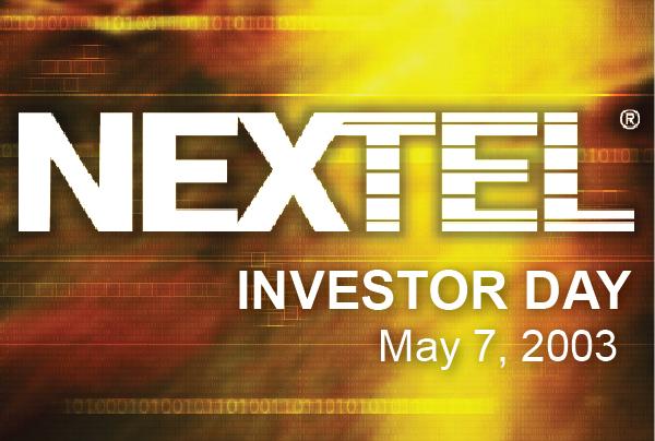 Nextel Investor Day Services
